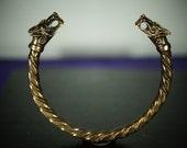 Wolf Fenrir Viking Hand made in Bronze   Bracelet Made in Europe