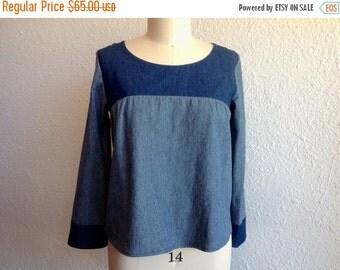 SALE Marianne denim blouse Sz 8/10