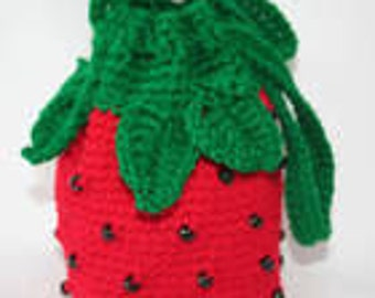 Strawberry Purse Crochet Pattern - Instant Download