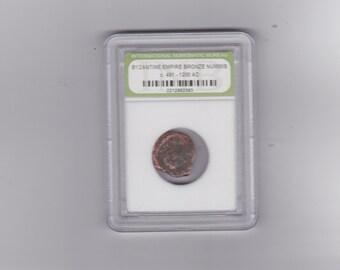 Ancient Byzantine empire bronze Nummis coin C - 491 - 1200  AD
