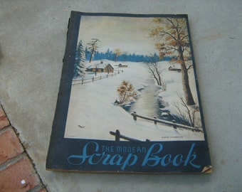 vintage large scrap book with 40 ads.  from the 1930-40-50-60sl