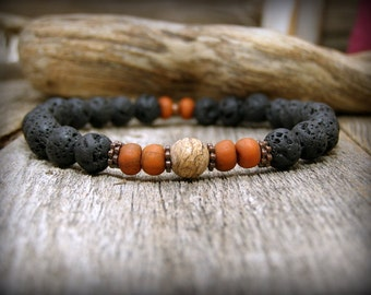 Bracelet for Men, Mens Jewelry, Beaded Stretch Bracelet, Stack Bracelet, Mens Beaded Bracelet, Guys Bracelet, Mens Bracelet