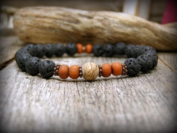Bracelet for Men, Mens Jewelry, Beaded Stretch Bracelet, Stack Bracelet, Mens Beaded Bracelet, Guys Bracelet, Mens Bracelet