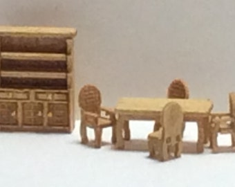 New - 144th Inch Scale Furniture Kits Traditional Style Dining Room