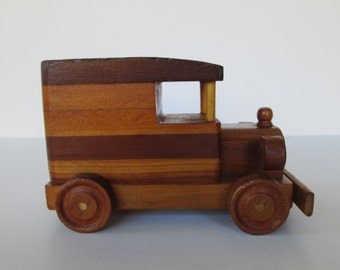 Solid Wood Toy Car Truck