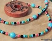 Turtle Cedar Pendant Necklace, Turquoise Jewelry, Native Style, Handcrafted Jewelry, Tribal Jewelry, Pow Wow Jewelry, Gemstone Jewelry