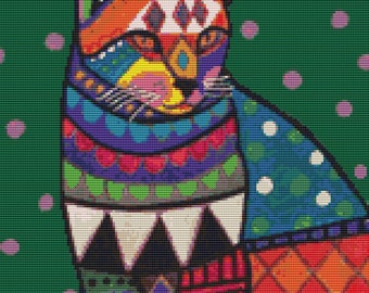 Cat Cross Stitch Kit Ginger Cat By Heather Galler Cat Art Counted NeedleCraft Kits