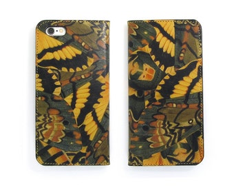 Leather iPhone 7 case, iPhone 6s Case, iPhone 6s Plus Case, iPhone 5/5s - Hawkmoth (Exclusive Range)