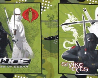 G.I. Joe Pillow Panel set of 2 squares