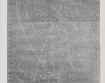 Antique Star Chart - 1856 Astronomy Print - Zodiacal Light - Vintage Print - No. 166