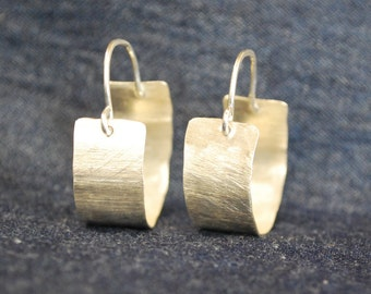 Wide Round Hoops - Hammered Sterling Silver