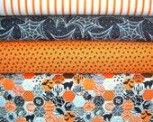 COUPON Code Sale - SELECT A SIZE Bundle - Happy Haunting, Riley Blake Designs, 100% Cotton Quilt Fabric, Halloween Bundle, Orange & Black