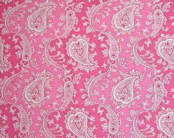 COUPON CODE SALE - Verna Mosquera, Veranda, Bandana, Strawberry Pink, Free Spirit, 100% Cotton Quilt Fabric, Pink Tonal Quilting Fabric