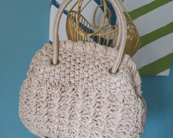Vintage 60s Marchioness RH Macy Woven Purse Bag with clasp