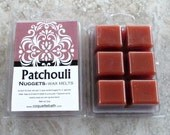 Patchouli Scented Wax Melts, Nuggets, Paraffin blend wax tart, classic incense fragrance, hippie, herbal scented wax, no burn home scent