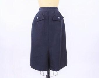 """1940s skirt vintage 40s high waist heart button gab skirt XS W 24"""""""