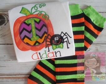 My First Halloween Outfit--Leg Warmers Set--Pumpkin Outfit