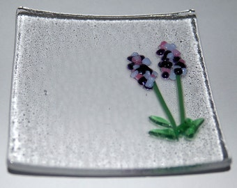 Tall Flowers Fused Plate