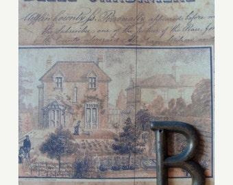 20PercentOff Gorgeous Chippy  Antique Brass Letter B