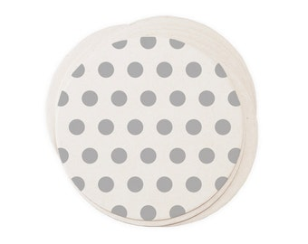Polka Dots - Letterpressed Paper Coasters