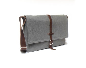 "13"" / 15"" MacBook Pro Retina messenger bag - medium gray"