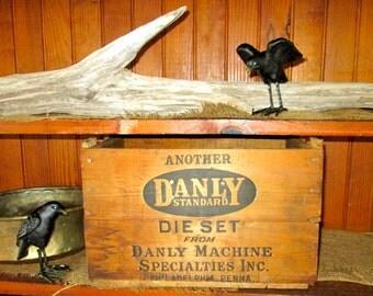 Vintage Danly Standard Wood Crate/ Danly Standard Die Set Wooden Box/ Rustic Storage/ Display/Prop/ Home Decor
