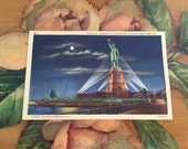 Statue of Liberty Postcard Vintage Souvenir Photos Travel USA New York