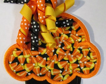Candy Corn Halloween Iron On Applique