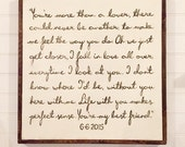 """Hand Painted 'Custom' Sign - Song Lyrics - scripture - blessing - quote - Wall Art 25""""x25"""" - Personalized - Distressed - Home Decor"""