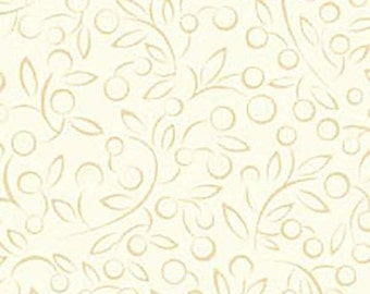 SALE Apple Cider White Fabric - Ecru Beige Cream - APPL168W