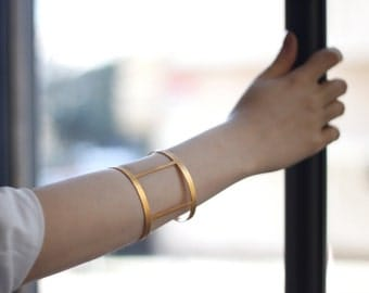 Square Wide Bangle,Bracelet-Geometry Collection