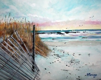 Early Light on LBI--original watercolor- prints = 8X10 -15.00,Other sizes 11 x 14 - 25.00, 13 X 19- 35.00. Message me and I will list them .