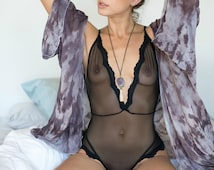 Bride to Be Black Lace Lingerie Teddy