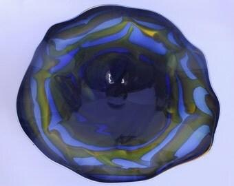 Wall Art Glass Blown Platter 521