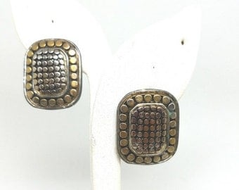 50% OFF Vintage Gold tone Silver Tone Clip On Earrings