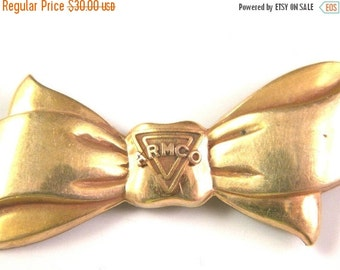 50% OFF Vintage Gold tone ARMCO Bow Pin