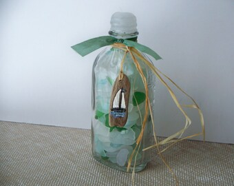 Beach Glass in a Bottle Seaglass Sea Glass Authentic