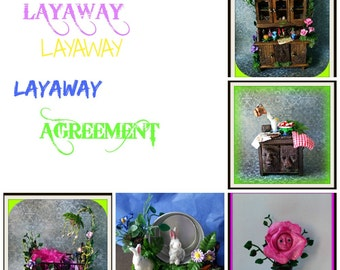Layaway plan for MidnightsDreams dollhouse miniatures