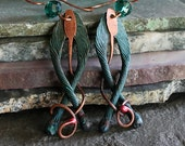 Ancient Jewelry, Celtic, Tribal Earrings