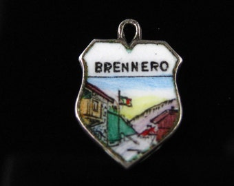 Charm, Brenner,  Scenic View, Brennero Pass, Italy, 800 Silver, Silver Enamel Charm