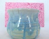 Seafoam Green Pottery Sponge Holder