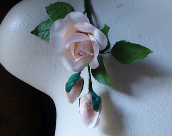 Peach Rose and Buds for Bridal, Boutonnieres, Hats, Corsages MF 268