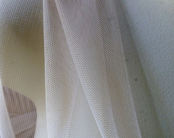 SALE 2 YARDS NUDE Soft Tulle Net English Net for Bridal, Gowns, Veils, Birdcage Veils, Garters, Hats