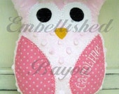 Personalized Stuffed Owl Soft and Plush Toy or Pillow for Baby or Dog - LARGE