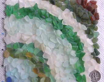 320 Sea Glass Shards Imperfections Art Mosaic Craft Supplies (1860)