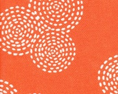 Michael Miller Stitch Circle Orange  - Fabric 1 yard off of bolt (more available)