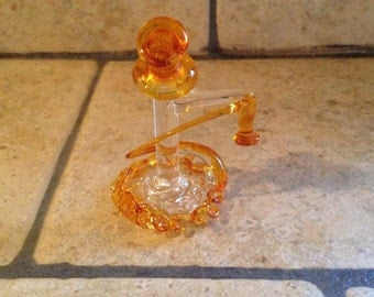 Tiny Blown Glass Antique Telephone Figurine