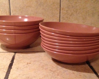 Set of 12 Cocoa Bowls by Melmac