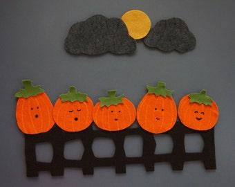 5 Little Pumpkins Felt Set