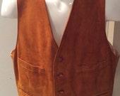 Vintage Men's Suedalope Simpson's vest 40